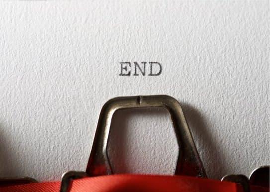 Typemachine met end